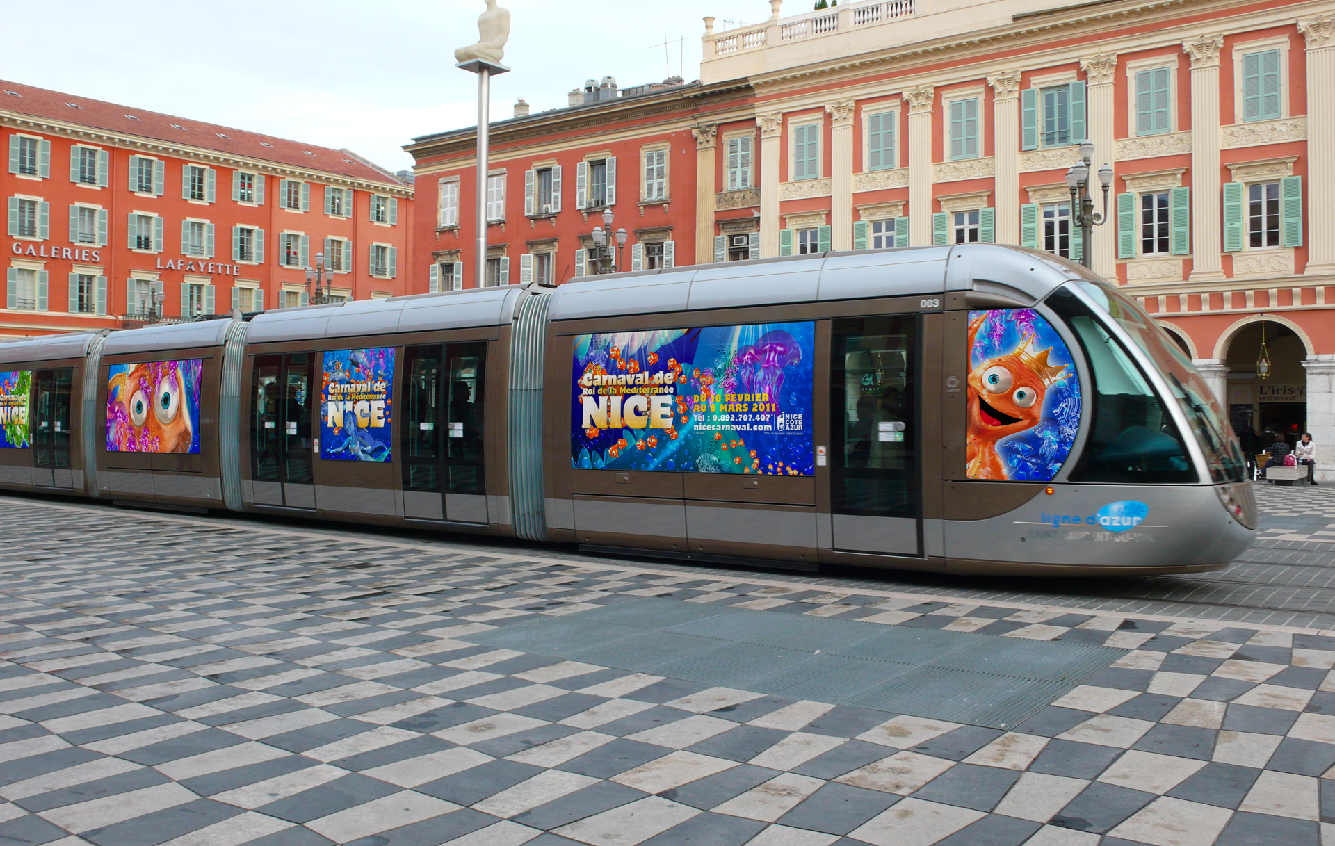 Habillage Tramway Annecy Nice Genève