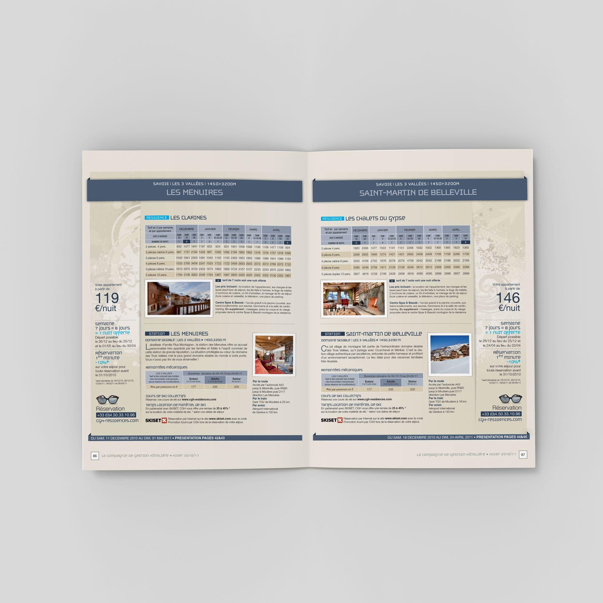 Brochure tarifaire CGH Résidences