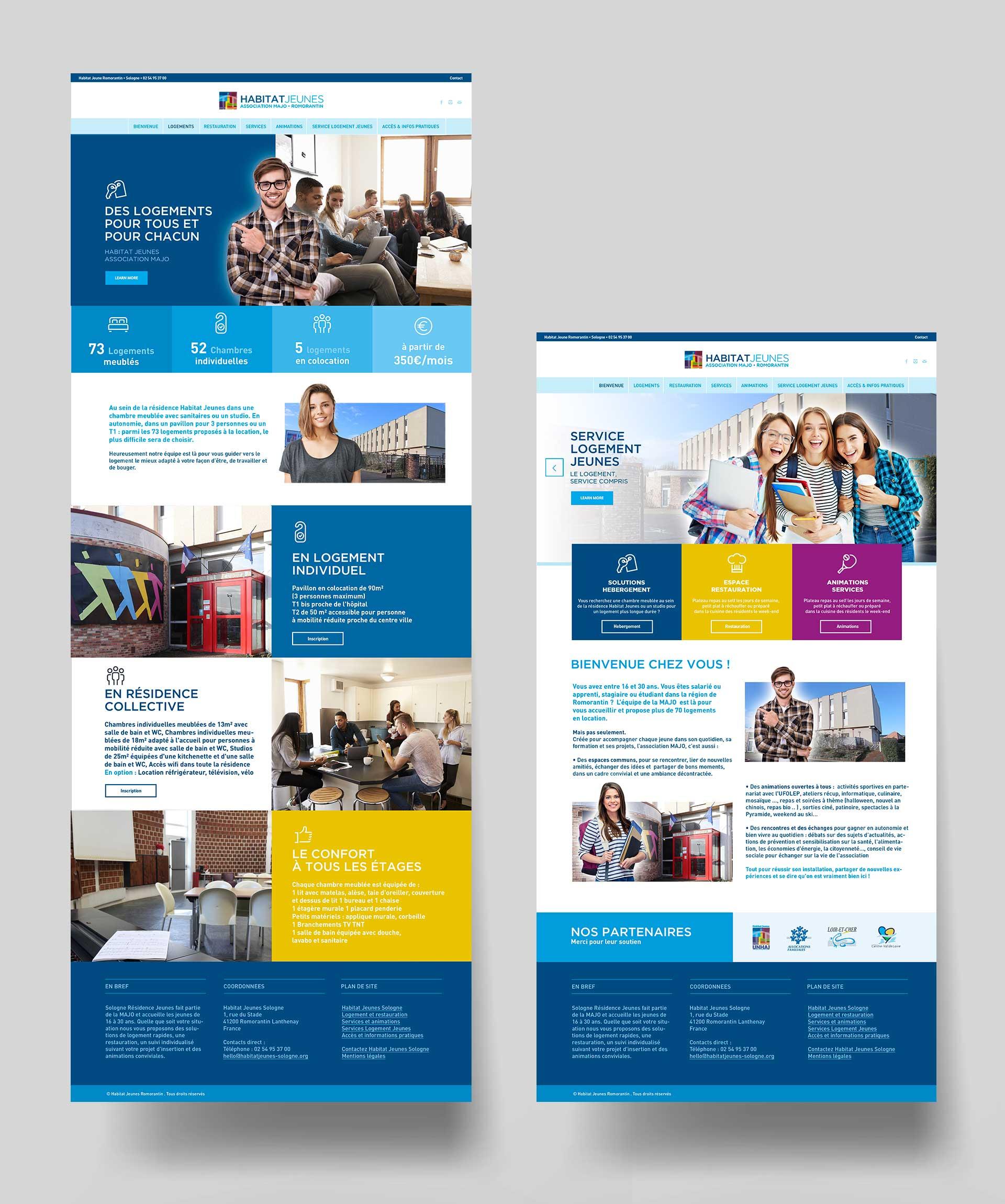 Création site internet association social