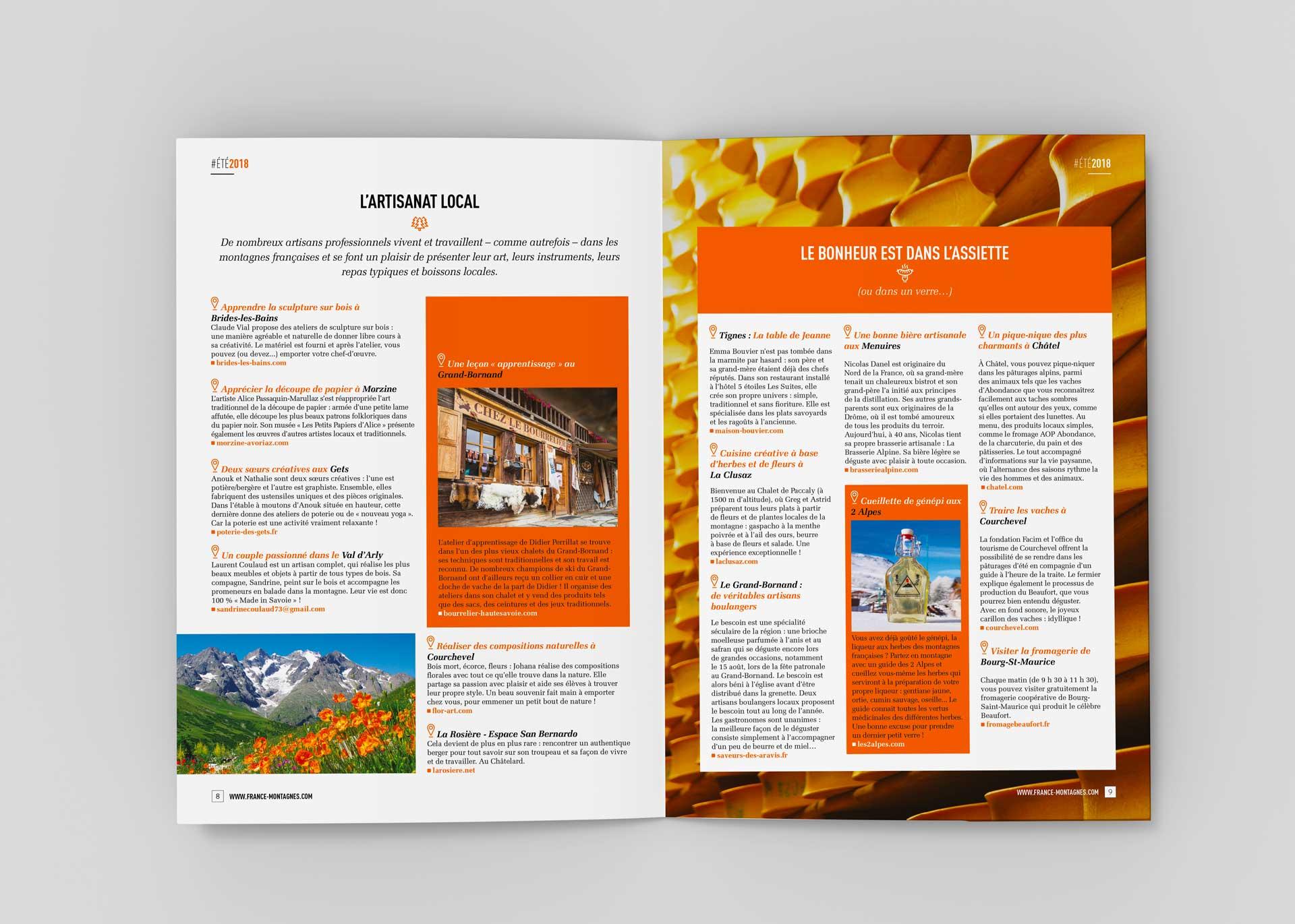 Brochure touristique France Montagnes