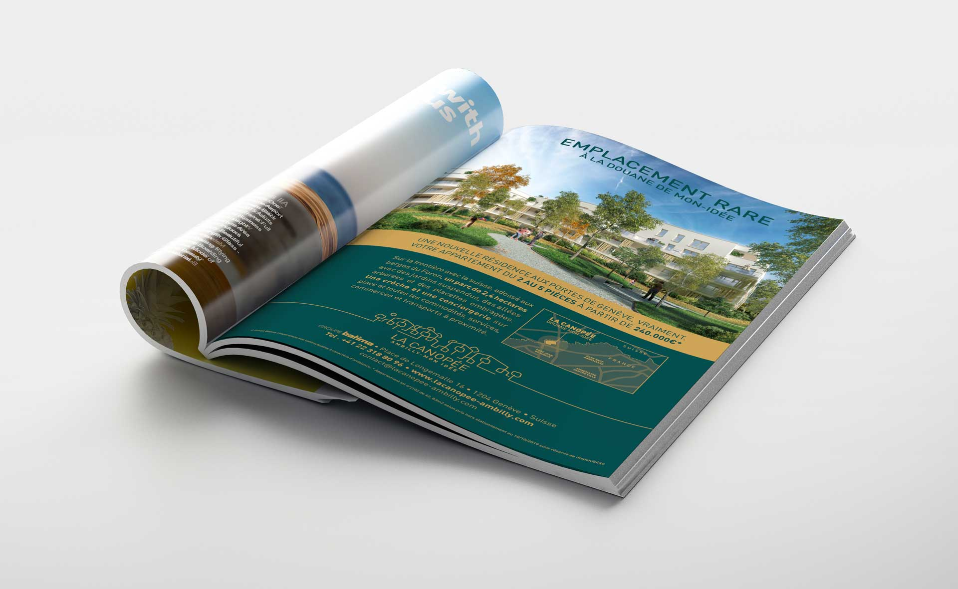 Campagne Annonce presse Immobilier