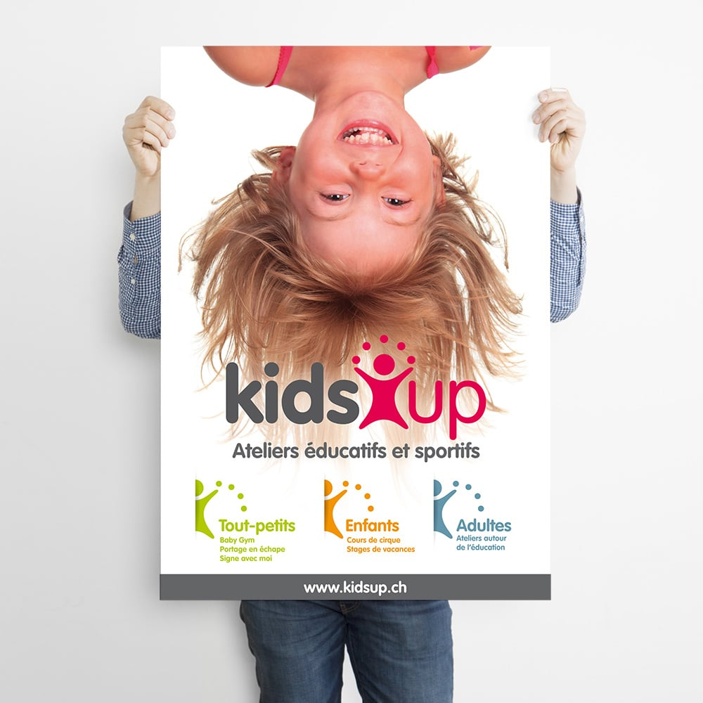 Kids Up Suisse, création d'affiche
