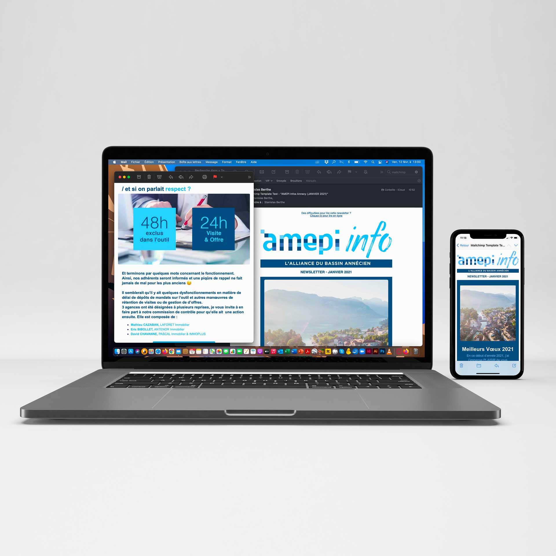 Création et envoi de newsletter MailChimp