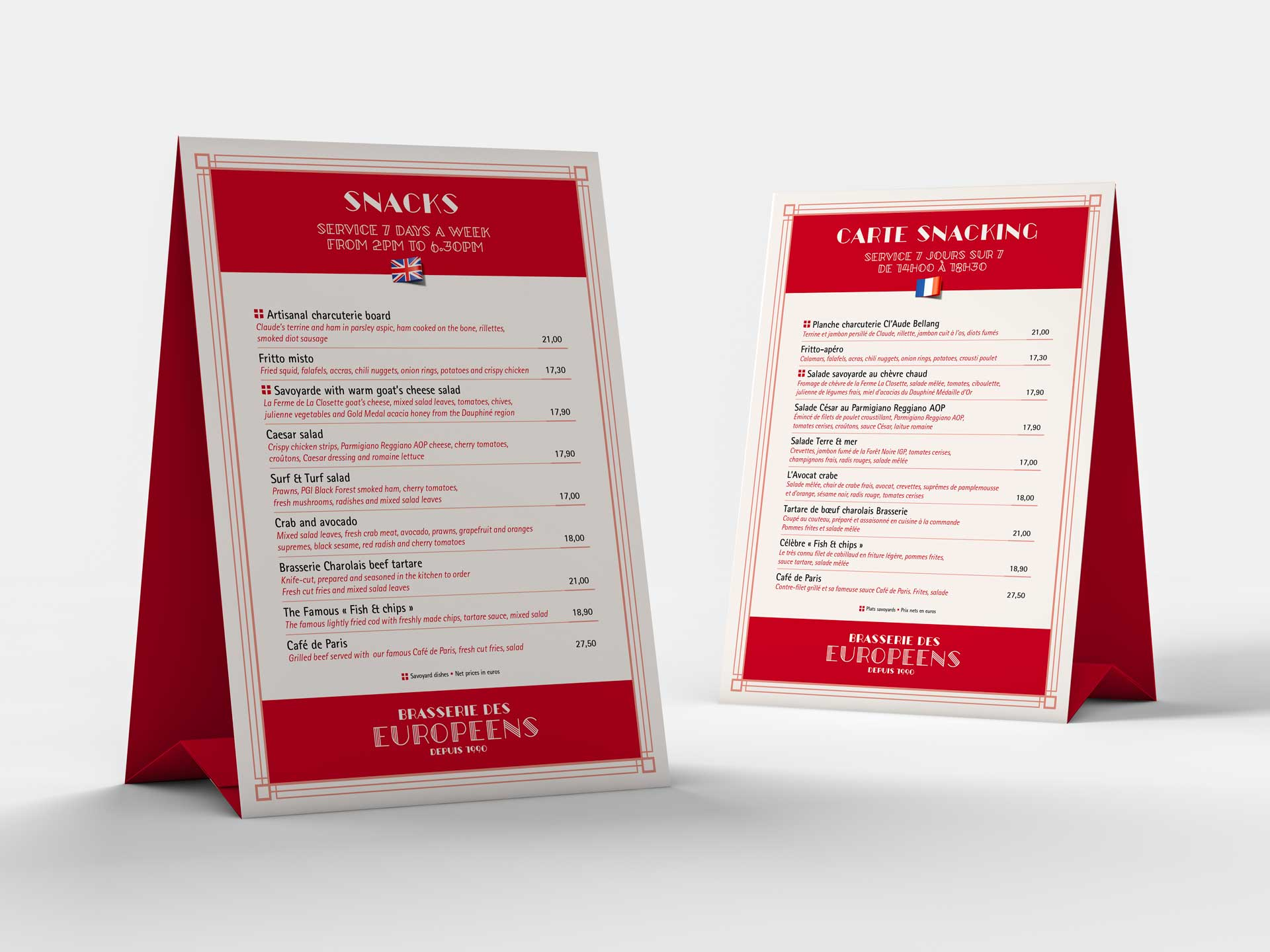 Identité graphique restaurant annecy