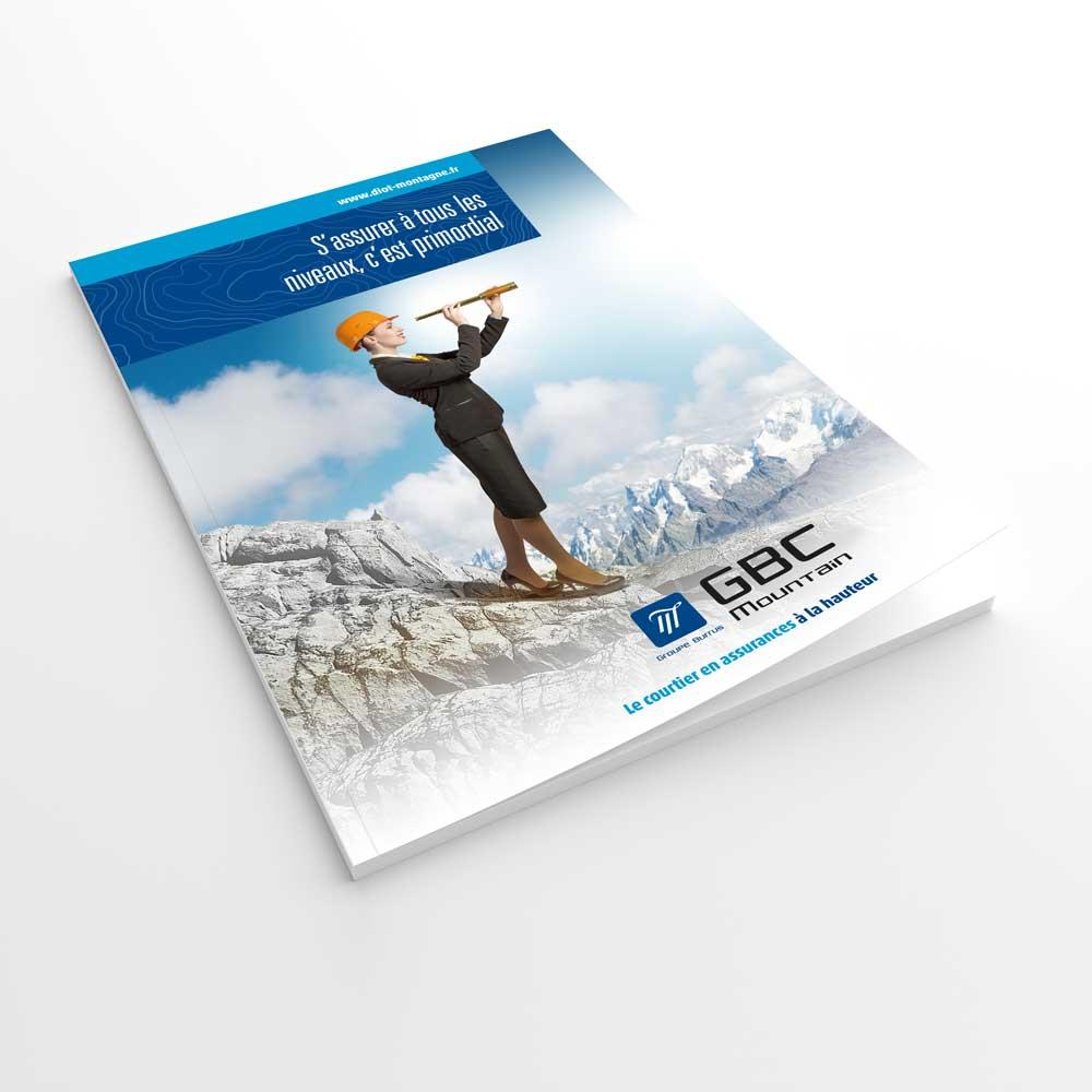 GBC Mountain, création d'une pochette documents
