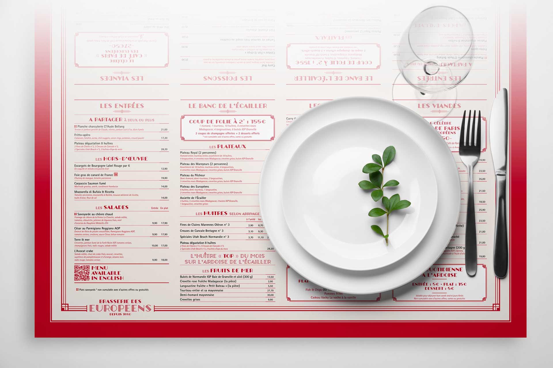 Impression Set de Table de Restaurant