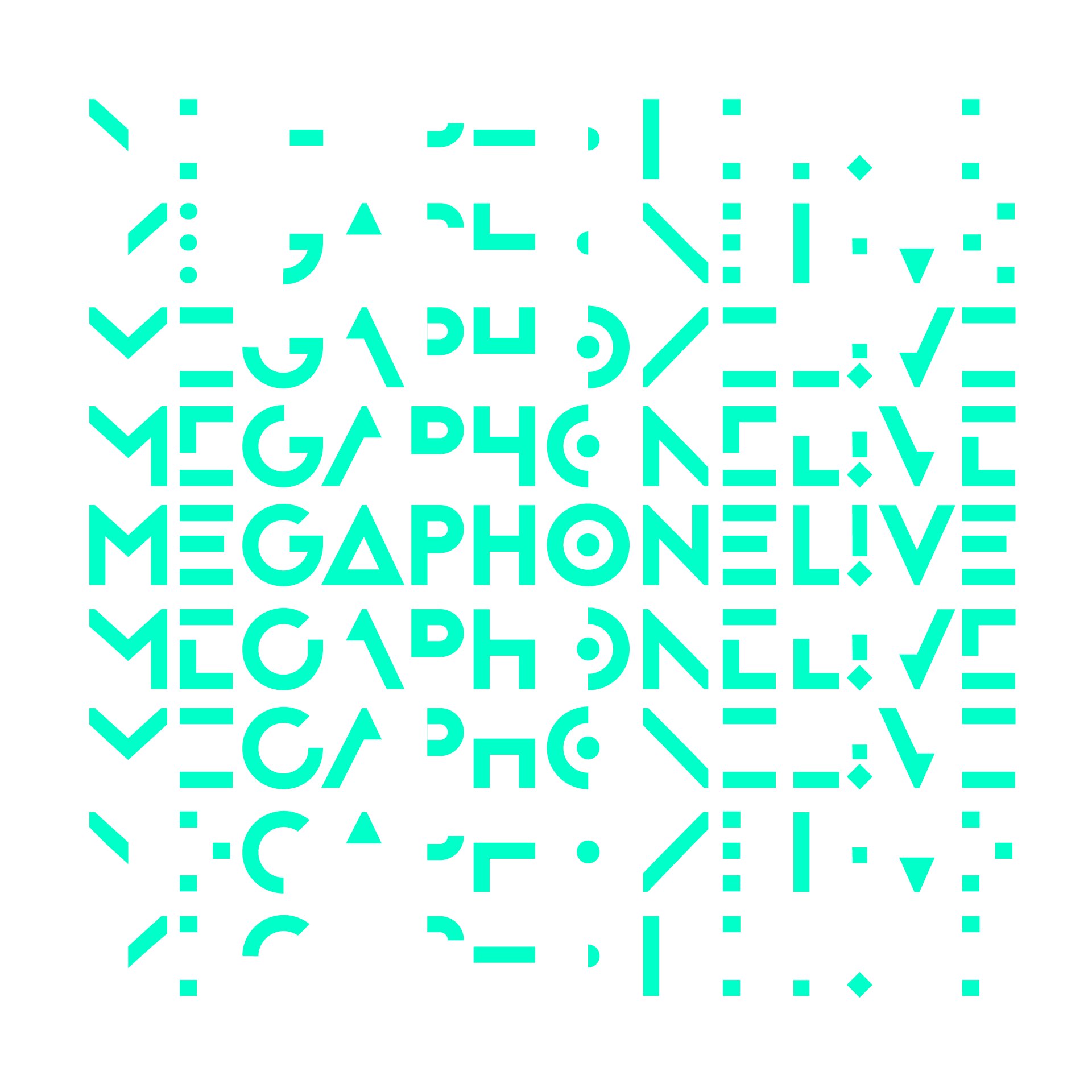 Megaphone Live, création de logo et identité graphique