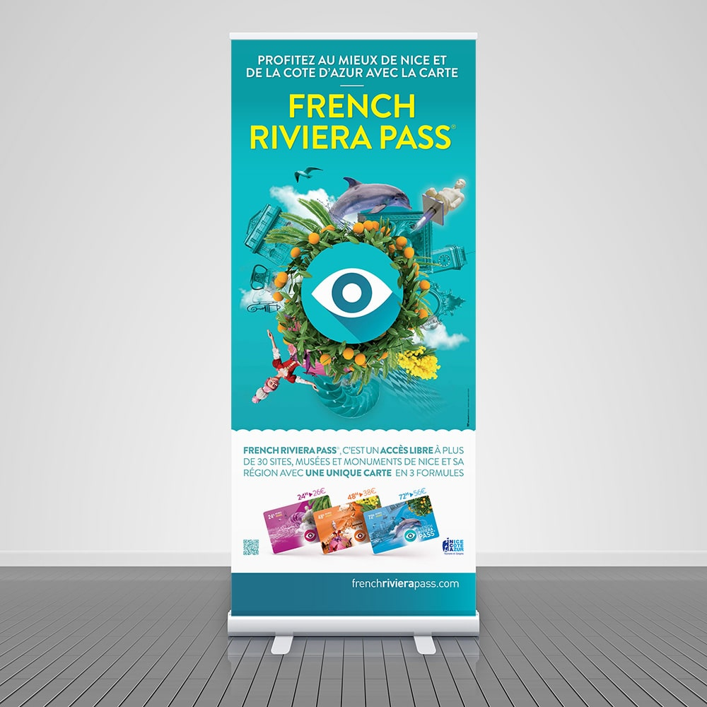 French Riviera Pass, création d'un roll-up