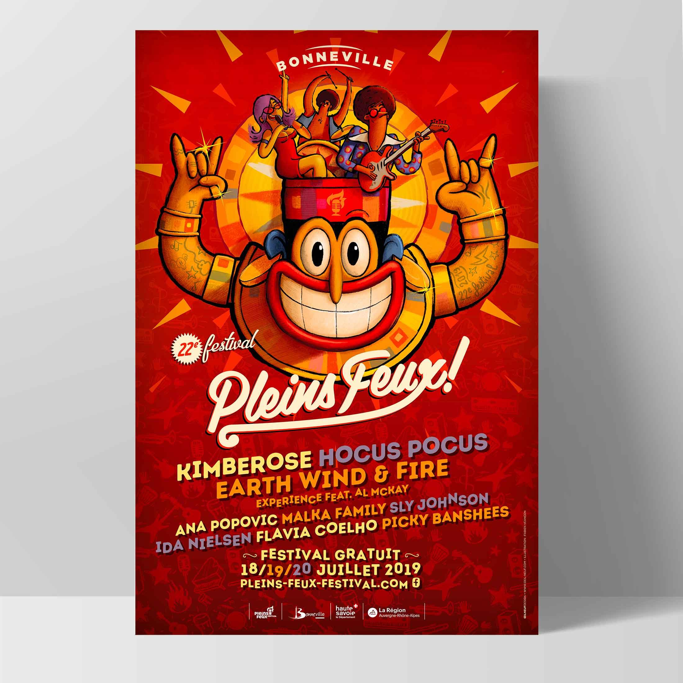 Pleins Feux Festival, campagne d'affichage culturel