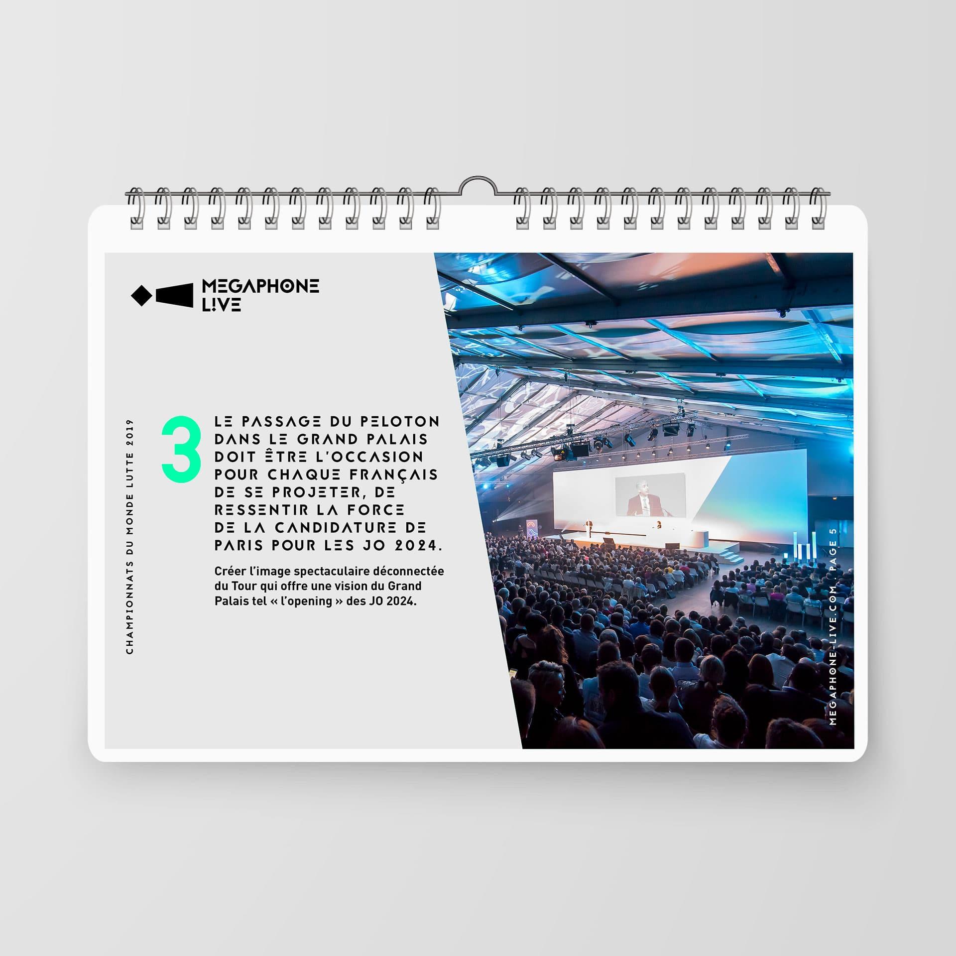 Megaphone Live, mise en page de templates PowerPoint