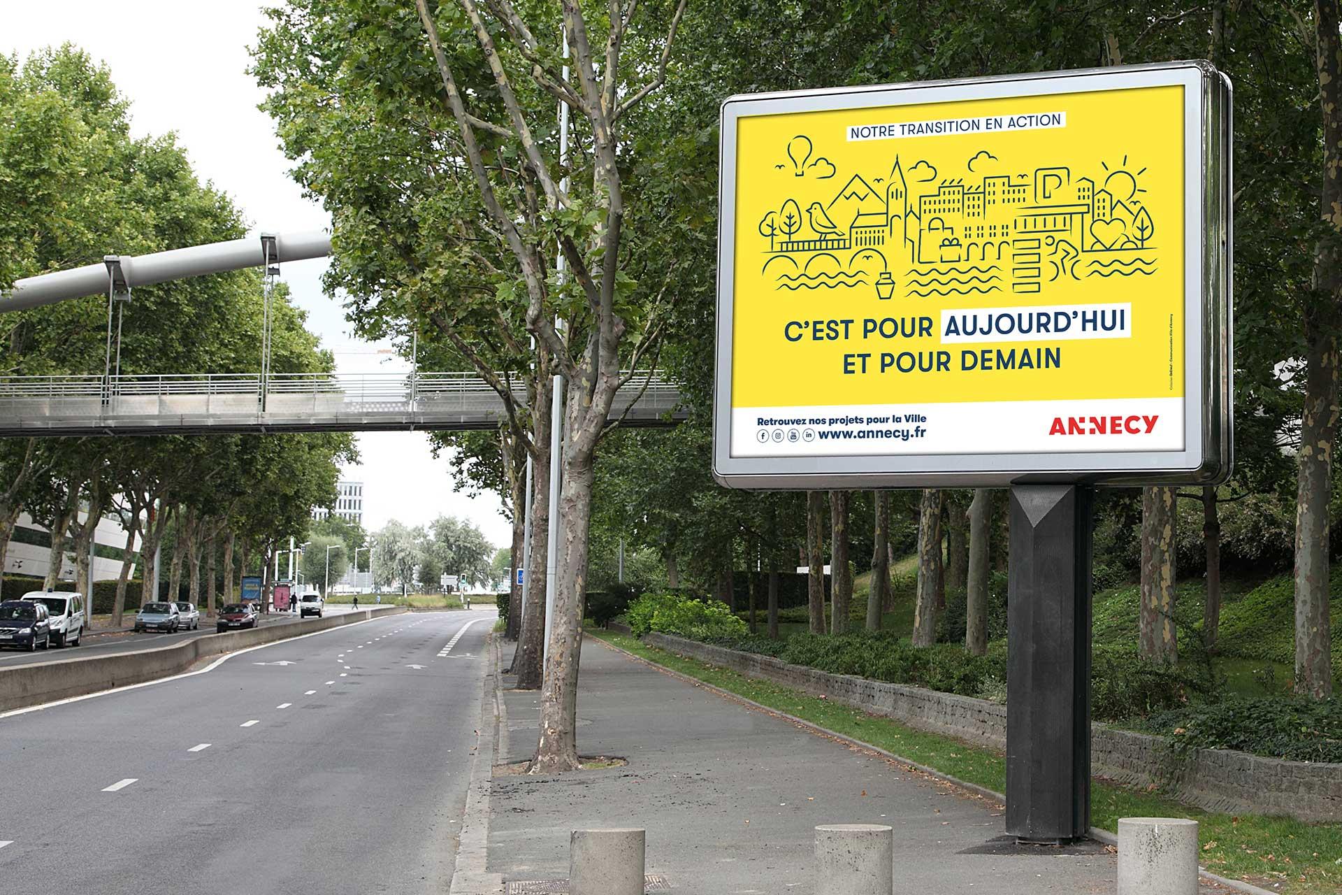 Affichage projet de ville Annecy
