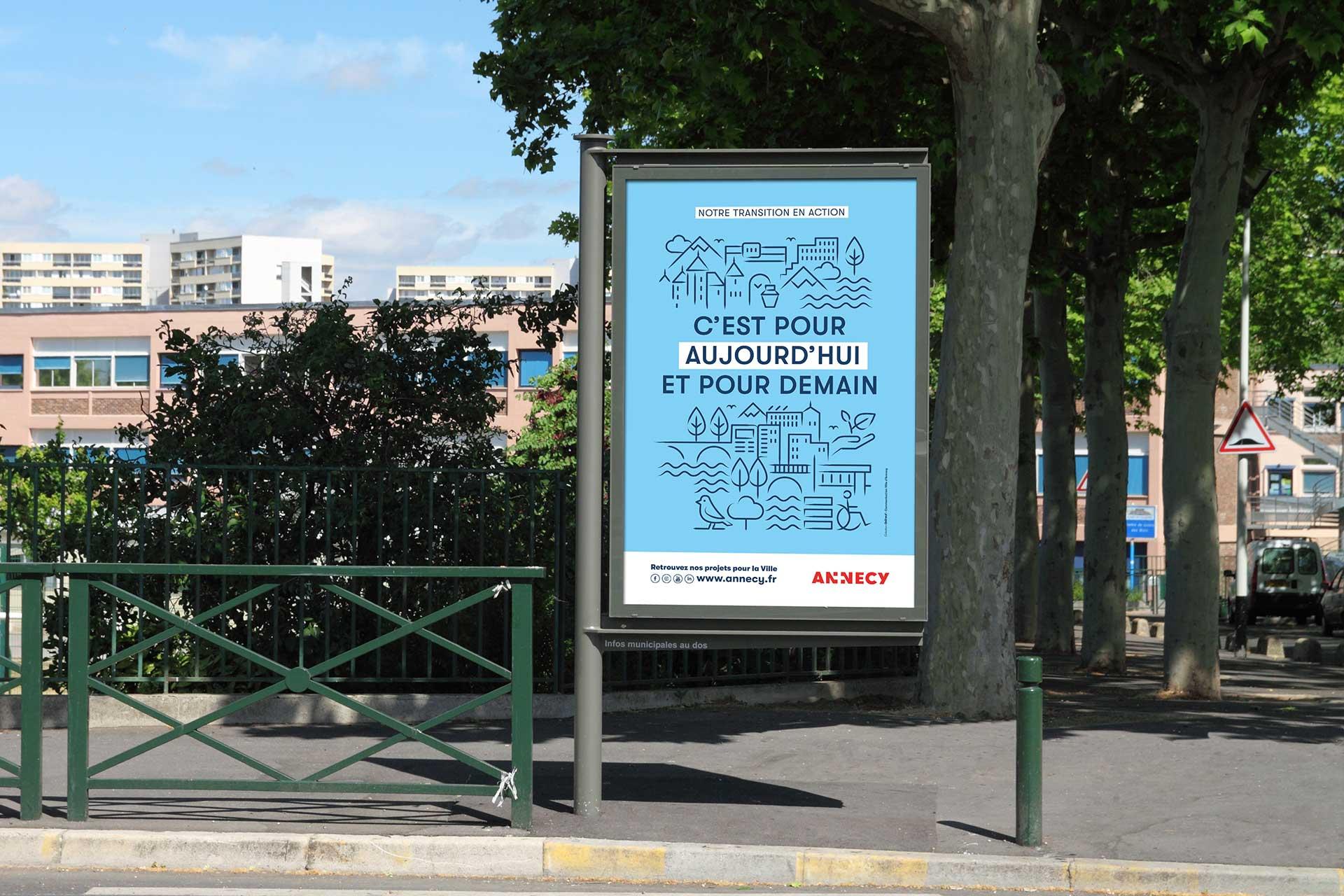 Affiche écologie dans la ville