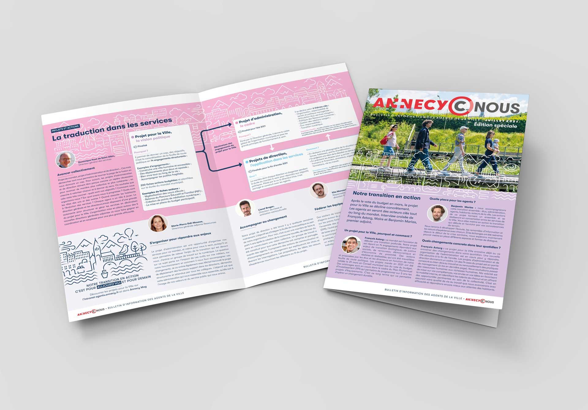 Journal interne des agents de la ville d'Annecy